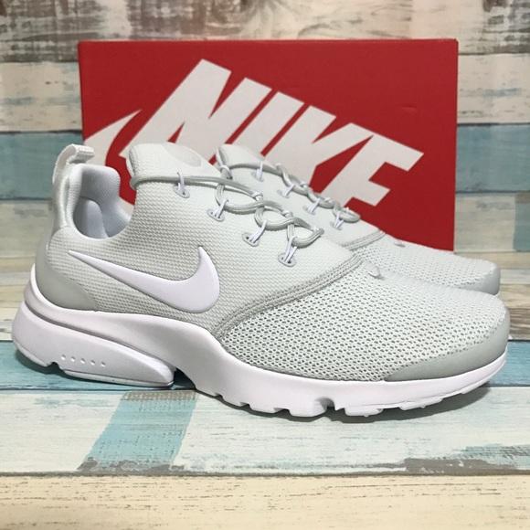 buy popular 50a0f bb412 NEW Nike Presto Fly Grey/White Size 8.5 NWT